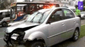 Centro de Lima: conductor herido tras chocar contra poste y árboles en Paseo Colón [VIDEO]