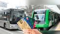 ¿Metropolitano y Metro de Lima se podrían pagar con tarjetas de débito y crédito?