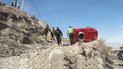 Tres personas resultaron heridas tras despite por pendiente  de Arequipa [FOTOS Y VIDEO]
