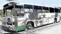 Trujillo: extorsionadores queman ómnibus de empresario por negarse a pagar cupos