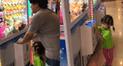 Facebook: niña asiática deja en ridículo a su padre frente a una máquina de peluches [VIDEO]