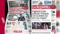 Difunden falsa portada de La República en redes sociales