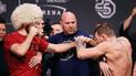 Conor McGregor vs Khabib EN VIVO: irlandés calentó el pesaje con brutal patada [VIDEO]
