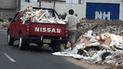 #YoDenuncio: conductor de vehículo arroja desmonte en vía pública [FOTOS]