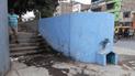 Convierten frontis de colegio en un urinario público en Piura