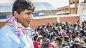 Aduviri se da baño de popularidad en Puno en su primera aparición pública [VIDEOS]