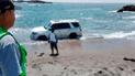 Áncash: rescatan a familia que quedó atascada en arena