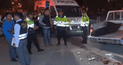 Comas: Colectivero secuestró a ingenieros, pero terminó muerto de un balazo [VIDEO]