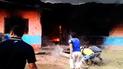 Tumbes: niño ocasiona incendio tras detonar artefacto pirotécnico [VIDEO]