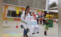 Huancayo: con vehículos de cartón enseñan normas de tránsito [FOTOS]