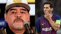 Diego Maradona destruyó a Lionel Messi con una terrible crítica [VIDEO]