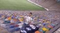 Hinchas de Universitario recogieron la basura del estadio tras vencer a Sport Rosario
