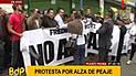 Ciudadanos marcharon en contra del alza de peaje [VIDEO]