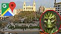 Google Maps: recorren concurrido parque de Chiclayo y se topan con extraño 'reptiliano' [VIDEO]