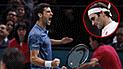 Djokovic clasificó a la final del Masters de París tras vencer a Federer [VIDEO]