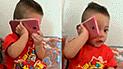 Facebook Viral: Hombre que hablaba por teléfono no creyó que sería troleado por su hijo [VIDEO]