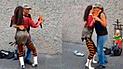Facebook: graban a ambulante peruano bailando con voluptuosa chica que oculta un gran secreto [VIDEO]