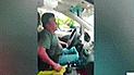 Cercado de Lima: taxista estrelló su vehículo contra grúa para evitar que lo lleven al depósito [VIDEO]