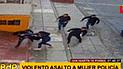 SMP: delincuentes arrastran a mujer policía para robarle su cartera [VIDEO]