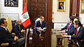 Vizcarra y Villanueva se reunieron con Daniel Salaverry en Palacio de Gobierno