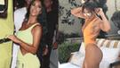 Kim Kardashian encantada con escultural figura de JLo en trikini  [FOTOS]