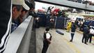 La Victoria: camión de caudales se despistó en la Vía Expresa [VIDEO]