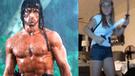 Facebook: niña imita a 'Rambo' y comete terrible error usando cuchillos [VIDEO]