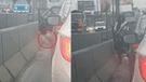 Mujer aprovechó el tráfico vehicular para orinar en plena Panamericana Norte [VIDEO]
