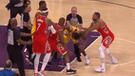 NBA: vergonzosa pelea arruinó partido entre Lakers vs Rockets [VIDEO]