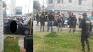 Los Olivos: persecución y balacera dejó dos muertos y un herido en Panamericana Norte [VIDEO]