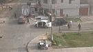 Los Olivos: Difunden video de balacera registrado por cámara de seguridad
