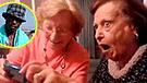 Facebook Viral: ancianas tuvieron divertida reacción al ver a un famoso personaje de WhatsApp [VIDEO]