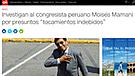 Así informó la prensa internacional sobre escándalo de Moisés Mamani [FOTOS]