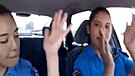 Policías de tránsito se filman en pleno baile mientras están al volante [VIDEO]
