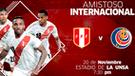 Perú vs Costa Rica HOY EN VIVO: 0-0 en Arequipa por fecha FIFA 2018