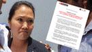 Keiko Fujimori: INPE responde sobre pedido de reubicación de Ana Herz