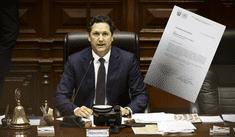 Daniel Salaverry notifica cuestión de confianza aprobada a Vizcarra