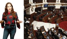 Andrea Llosa explota contra congresistas con duros calificativos