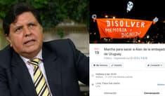 Alan García: Convocan a marcha para sacar al expresidente de la embajada de Uruguay