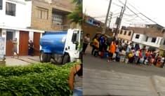 Aniego SJL: vecinos indignados por preferencia de camión cisterna para repartir agua [VIDEO]