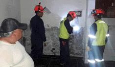 Sedapal desinfecta viviendas afectadas por aniego en San Juan de Lurigancho