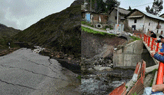 Áncash: lluvias torrenciales y derrumbes bloquean carretera Conococha-Huallanca-La Unión
