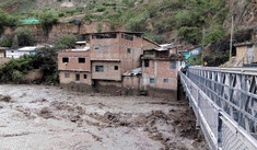 Áncash: viviendas en peligro de colapsar por la crecida alarmante de río Puchka en Huari