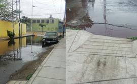 #YoDenuncio: desagüe roto deja calles inundadas