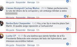 Exigen permanencia de juez Concepción Carhuancho en caso cócteles [FOTOS]