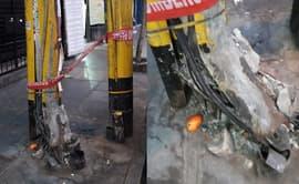 #YoDenuncio: vecinos temen por poste de alumbrado en mal estado