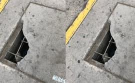 Surco: buzón con tapa en mal estado preocupa a peatones pese a reclamos