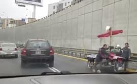 #YoDenuncio: ciudadanos se trasladan en triciclo por la Av. Javier prado [VIDEO]