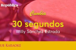 30 segundos, canción de Willy Sánchez Estrada