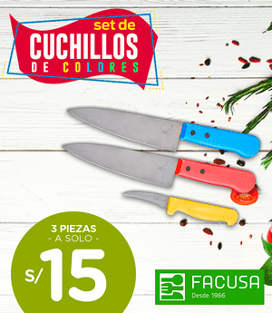 Set de cuchillos Facusa x3